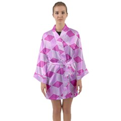 Series In Pink F Long Sleeve Kimono Robe by MoreColorsinLife