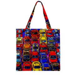 Colorful Toy Racing Cars Grocery Tote Bag by FunnyCow