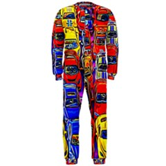 Colorful Toy Racing Cars Onepiece Jumpsuit (men)  by FunnyCow