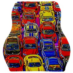 Colorful Toy Racing Cars Car Seat Velour Cushion