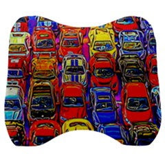 Colorful Toy Racing Cars Velour Head Support Cushion by FunnyCow