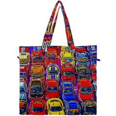 Colorful Toy Racing Cars Canvas Travel Bag by FunnyCow