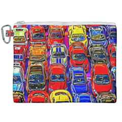 Colorful Toy Racing Cars Canvas Cosmetic Bag (xxl) by FunnyCow