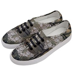 Wonderful Decorative Dragon On Vintage Background Women s Classic Low Top Sneakers by FantasyWorld7