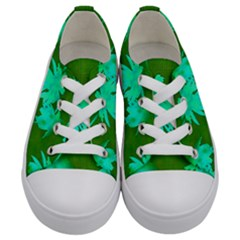 Palm Trees Island Jungle Kids  Low Top Canvas Sneakers