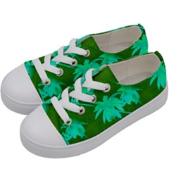 Palm Trees Island Jungle Kids  Low Top Canvas Sneakers by CrypticFragmentsColors
