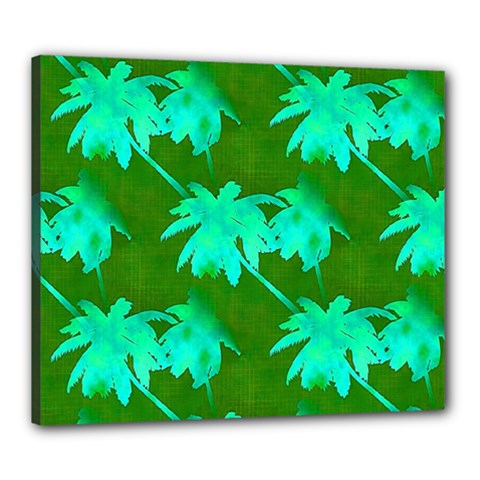 Palm Trees Island Jungle Canvas 24  X 20  by CrypticFragmentsColors