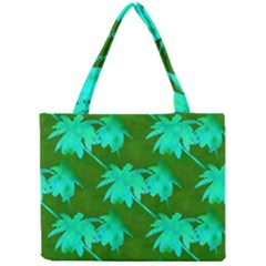 Palm Trees Island Jungle Mini Tote Bag by CrypticFragmentsColors