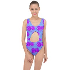 Palm Trees Caribbean Evening Center Cut Out Swimsuit