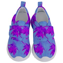 Palm Trees Caribbean Evening Velcro Strap Shoes by CrypticFragmentsColors