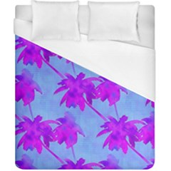 Palm Trees Caribbean Evening Duvet Cover (california King Size) by CrypticFragmentsColors