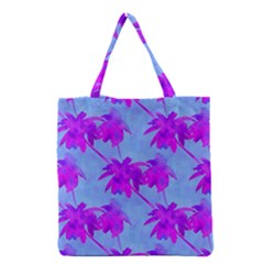 Palm Trees Caribbean Evening Grocery Tote Bag by CrypticFragmentsColors