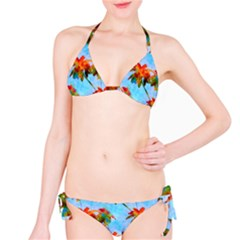 Palm Trees Sunset Glow Classic Bikini Set by CrypticFragmentsColors