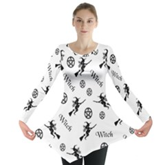 Witches And Pentacles Long Sleeve Tunic  by IIPhotographyAndDesigns