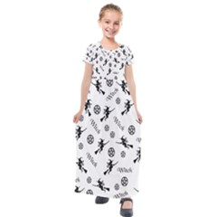 Witches And Pentacles Kids  Short Sleeve Maxi Dress by IIPhotographyAndDesigns