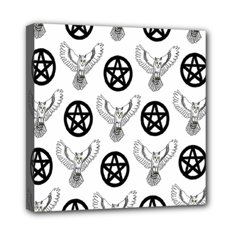 Owls And Pentacles Mini Canvas 8  X 8  by IIPhotographyAndDesigns