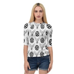 Owls And Pentacles Quarter Sleeve Raglan Tee by IIPhotographyAndDesigns