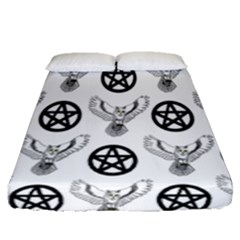 Owls And Pentacles Fitted Sheet (queen Size) by IIPhotographyAndDesigns
