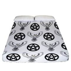 Owls And Pentacles Fitted Sheet (california King Size) by IIPhotographyAndDesigns