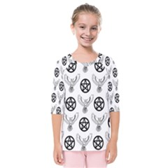 Owls And Pentacles Kids  Quarter Sleeve Raglan Tee by IIPhotographyAndDesigns
