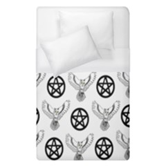 Owls And Pentacles Duvet Cover (single Size) by IIPhotographyAndDesigns