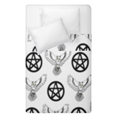 Owls And Pentacles Duvet Cover Double Side (single Size) by IIPhotographyAndDesigns