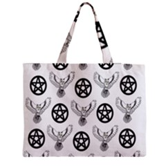 Owls And Pentacles Zipper Medium Tote Bag by IIPhotographyAndDesigns