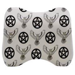 Owls And Pentacles Velour Head Support Cushion