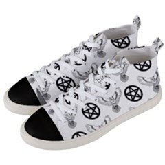 Owls And Pentacles Men s Mid Top Canvas Sneakers by IIPhotographyAndDesigns