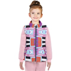 Mirrored Distorted Shapes                              Kid s Puffer Vest