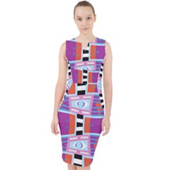 Mirrored Distorted Shapes                                      Midi Bodycon Dress
