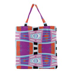 Mirrored Distorted Shapes                                    Grocery Tote Bag by LalyLauraFLM