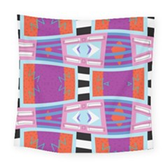 Mirrored Distorted Shapes                                   Square Tapestry by LalyLauraFLM