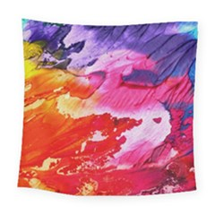 Red Purple Paint                                    Square Tapestry by LalyLauraFLM