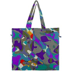 Blue Purple Shapes                                 Canvas Travel Bag by LalyLauraFLM