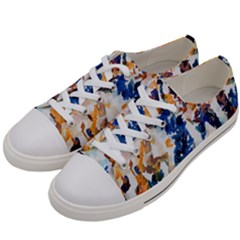 Paint On A White Background                                 Women s Low Top Canvas Sneakers by LalyLauraFLM