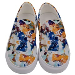 Paint On A White Background                                  Men s Canvas Slip Ons