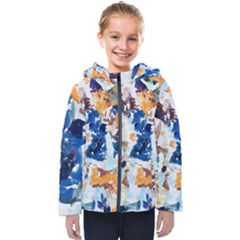 Paint On A White Background                                      Kids  Hooded Puffer Jacket