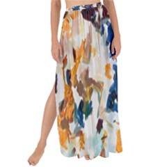 Paint On A White Background                                     Maxi Chiffon Tie-up Sarong by LalyLauraFLM