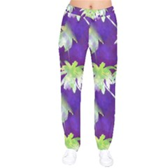 Palm Trees Hot Summer Nights Velvet Drawstring Pants by CrypticFragmentsColors