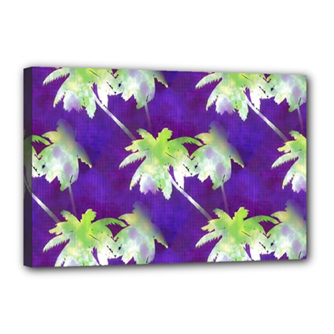 Palm Trees Hot Summer Nights Canvas 18  X 12  by CrypticFragmentsColors