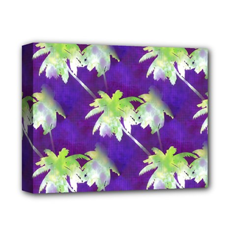 Palm Trees Hot Summer Nights Deluxe Canvas 14  X 11  by CrypticFragmentsColors