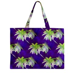 Palm Trees Hot Summer Nights Zipper Mini Tote Bag by CrypticFragmentsColors