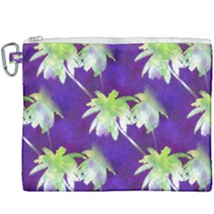 Palm Trees Hot Summer Nights Canvas Cosmetic Bag (xxxl)