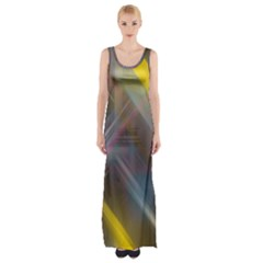 Fractals Stripes                                        Maxi Thigh Split Dress by LalyLauraFLM