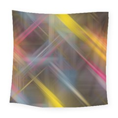 Fractals Stripes                                       Square Tapestry by LalyLauraFLM