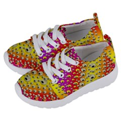 Festive Music Tribute In Rainbows Kids  Lightweight Sports Shoes by pepitasart
