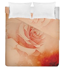 Wonderful Rose In Soft Colors Duvet Cover Double Side (queen Size)