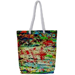 Width 2 Full Print Rope Handle Tote (small) by bestdesignintheworld