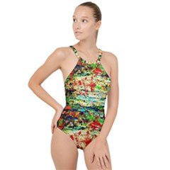 Width 2 High Neck One Piece Swimsuit